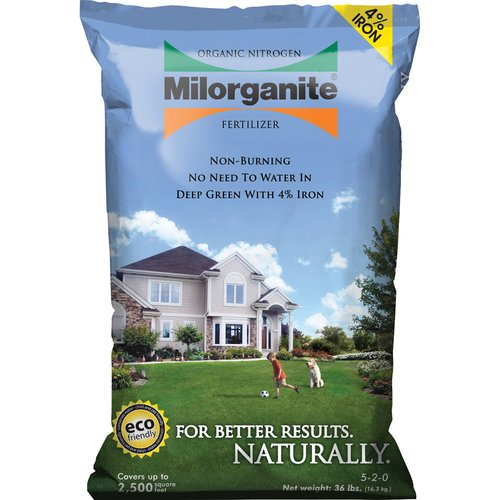 Milorganite Organic Nitrogen All Purpose Long Lasting Fertilizer, 36 lbs