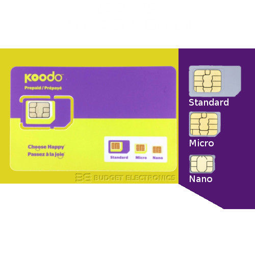 LIVEDITOR Koodo Multi Sim Card (Nano + Micro + Regular) $15 AIR TIME CREDIT included - image 2 de 2