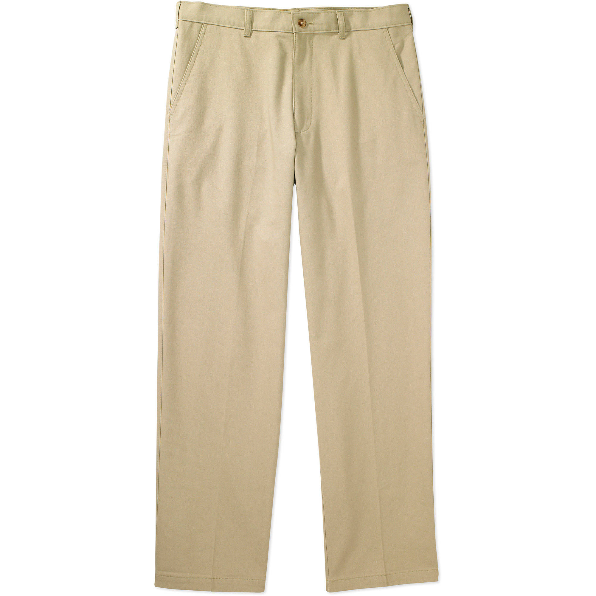 George - Big Men's Flat -Front Wrinkle-Resistant Pants - Walmart.com