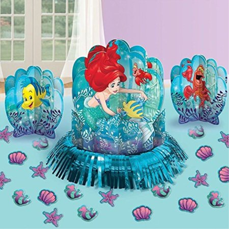 disney little mermaid princess ariel birthday party favor table centerpiece decoration kit](Ariel Birthday Party Supplies)