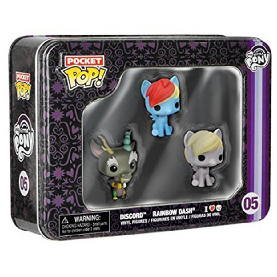 Pocket POP My Little Pony 3pk, Tin-Hooves, Celestia, Twilight Sparkle, Multi