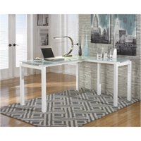 Bowery Hill Signature Design by L Shaped Desk in White