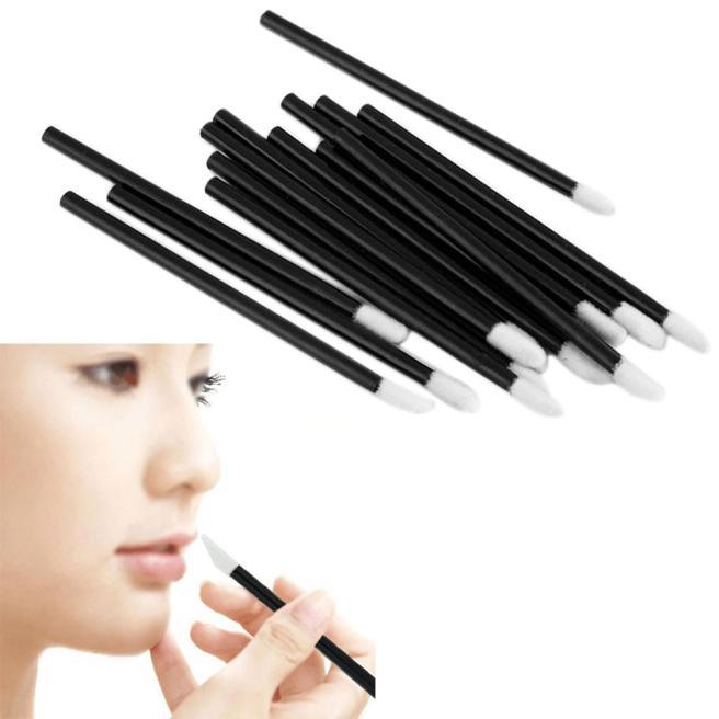 Womail 100PCS Disposable MakeUp Lip Brush Lipstick Gloss Wands Applicator Make Up BK
