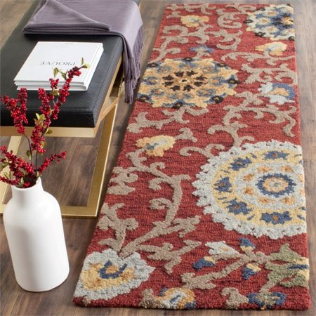 Safavieh Blossom 5' X 8' Hand Hooked Wool Rug in Red - image 3 de 8