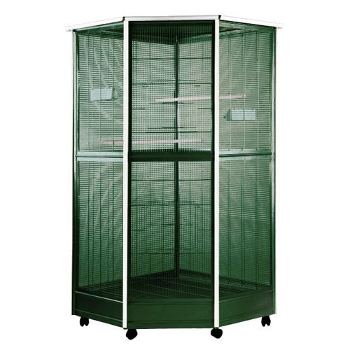 A&E Cage Hexagon Corner Aviary-Medium 44 x 35 x 67 in.