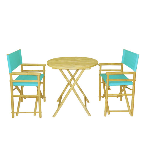 Bay Isle Home Sinta Bamboo 3 Piece Bistro Set