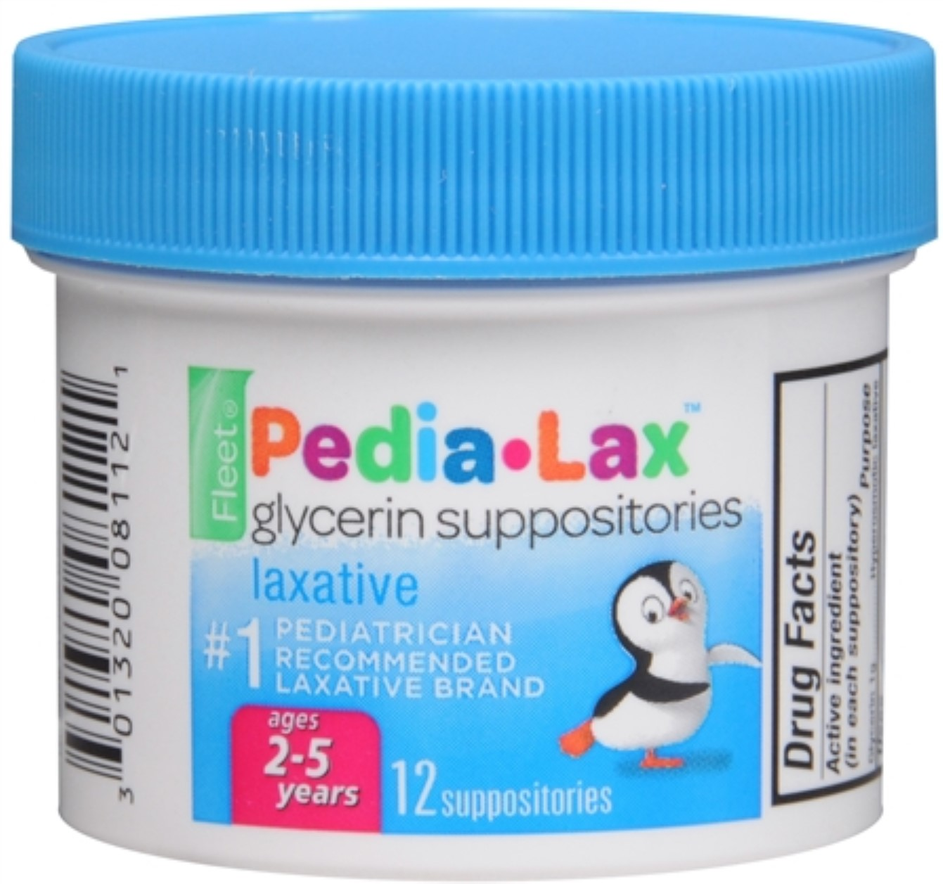 Fleet Pedia-Lax Glycerin Suppositories 12 Each (Pack of 6)