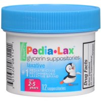 Fleet Pedia-Lax Glycerin Suppositories 12 Each (Pack of 4)