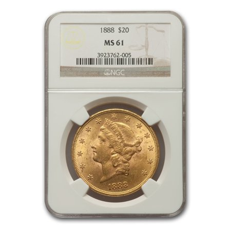 1933 20 Gold Double Eagle (1888 $20 Liberty Gold Double Eagle MS-61 NGC )