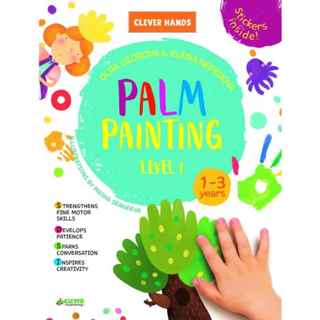 Palm Painting. Level 1 : Stickers Inside! Strengthens Fine Motor Skills, Develops Patience, Sparks Conversation, Inspires