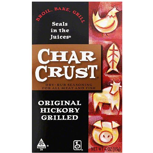 Char Crust Original Hickory Grilled Dry-Rub Seasoning, 4 oz (Pack of 6)