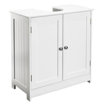 Ktaxon Under Sink Storage Bathroom Vanity Cabinet Space Saver Organizer, White