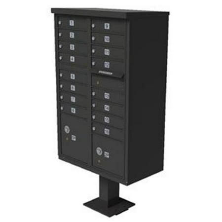 QualArc CBU-16-BZ 72 x 42 x 30 in. 1570 12 Door Cluster Box Unit for Tall Pedestal Stucco Columns, Bronze 1570 Cluster Box Unit