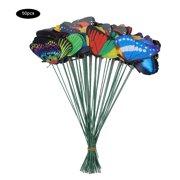 FAGINEY Lawn Figurine, Garden Decoration Animals, 50PCS Colorful Butterfly On Sticks Garden Yard Lawn Craft Art Statues