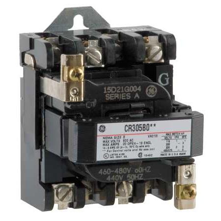 480vac non reversing magnetic contactor 3p 18a nema 0 ge ge magnetic contactor wiring diagram 3p