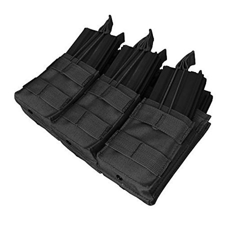 Condor Tactical MOLLE Triple Stacker Tactical M4 Mag Pouch - Black
