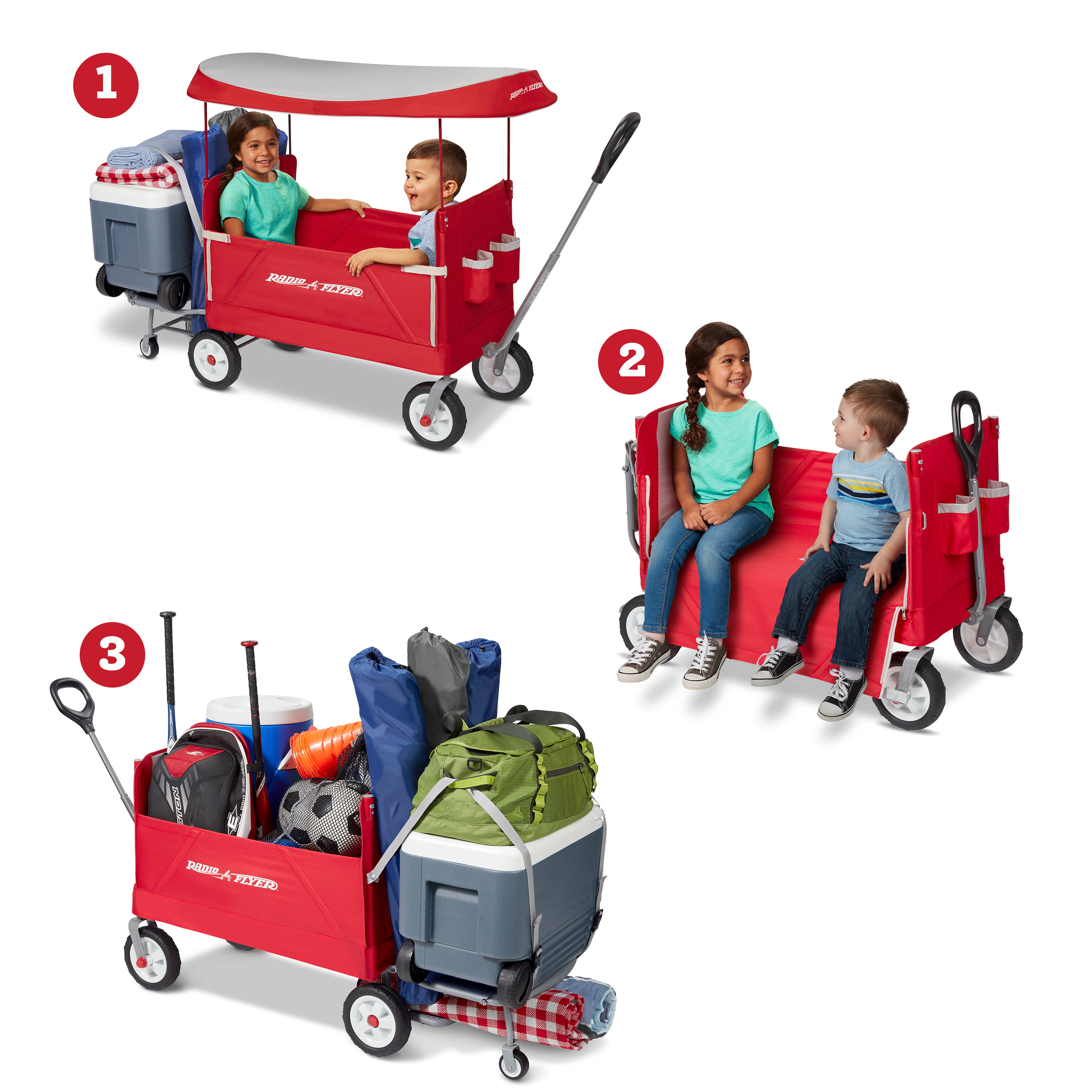 Folding Wagon Red