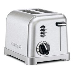 Cuisinart Brushed Stainless Steel 2 Slice Toaster CPT-160