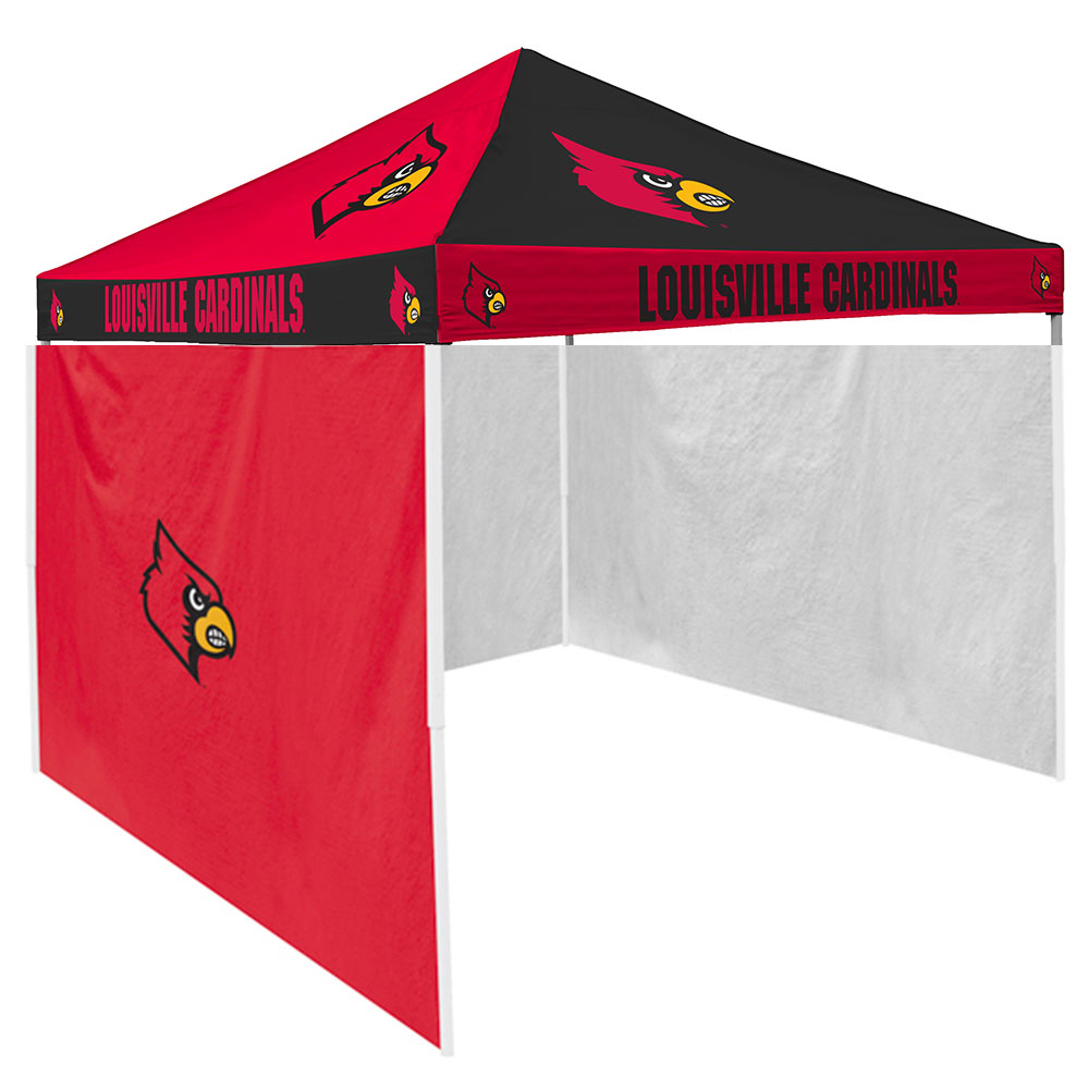 Louisville Cardinals NCAA 9u0027 x 9u0027 Checkerboard Color Pop-Up Tailgate Canopy Tent  sc 1 st  Walmart : tailgate canopy walmart - memphite.com