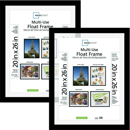 mainstays 20x26 multiuse float poster and picture frame