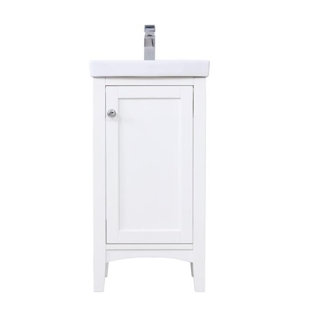 Elegant Decor Vf2318wh 18 In Mod Single Bathroom Vanity Set White Walmart Com Walmart Com