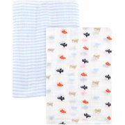 Child of Mine by Carter's Transportation 2-Pack Muslin Blankets