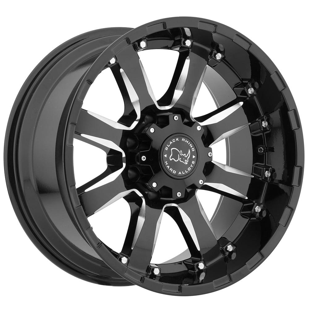 Black Rhino Sierra 20x9 5x150 +12mm Black/Milled Wheel Rim