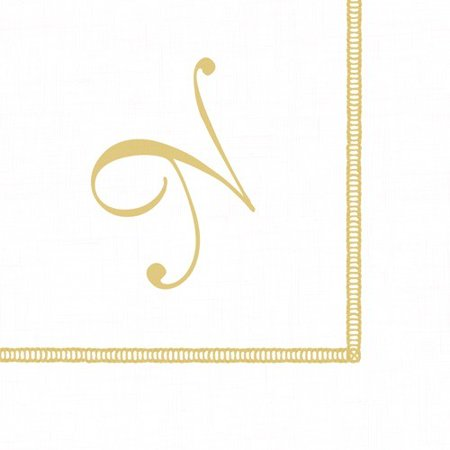 Monogrammed Cocktail Napkins - Monogram Initial N Paper Cocktail Napkins 20pk