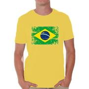 Awkward Styles Brazil Flag Shirt for Men Brazilian Soccer 2018 Tshirt Gifts from Brazil Flag of Brazil Brazilian Men Brazil Shirts for Men Brazil 2018 Tshirt Brazilian Gifts for Him Brazilian Flag