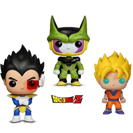 Warp Gadgets Bundle - Funko Pop Animation Dragonball Z - Perfect Cell, Super Saiyan Goku & Vegeta (3 Items)