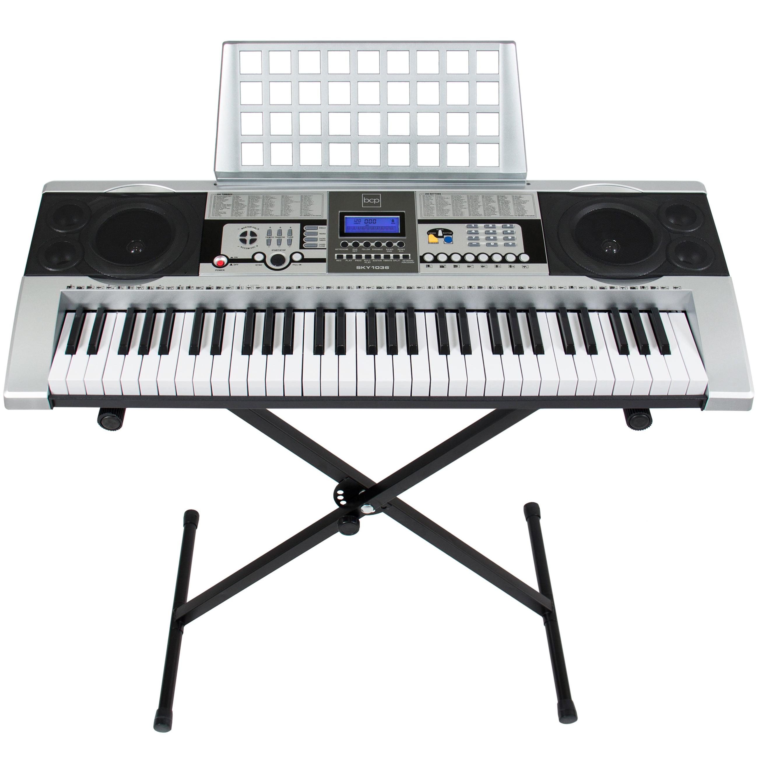 electronic piano keyboard 61 key music key board piano with x stand