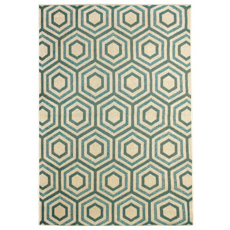 Carpet Art Deco Hermosa Geometric Green Indoor/Outdoor Rug - 5\'3 x 7 ...