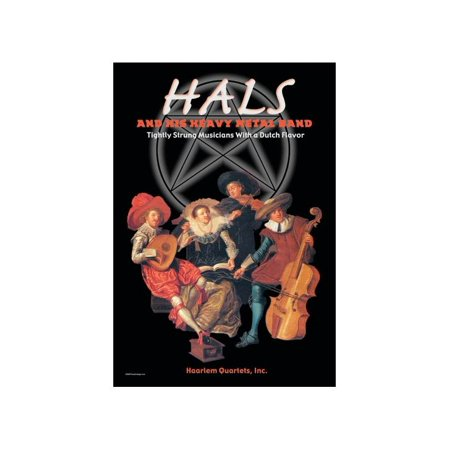 Hals And His Heavy Metal Band Print (Unframed Paper Print