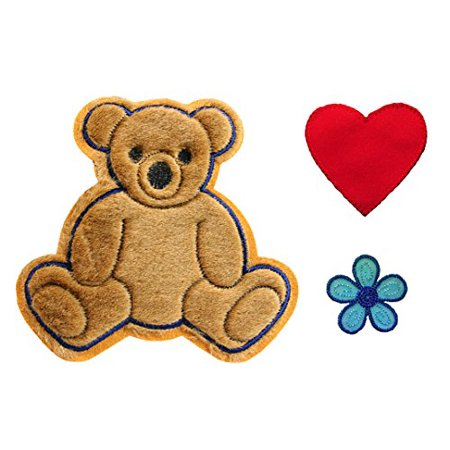 - Altotux Brown Teddy Bear Red Heart Blue Flower Kaylee Firefly Costume Embroidered Sew On Patches Applique DIY Cosplay Craft Supplies