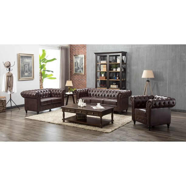 US Pride Furniture Teressa 3 Piece Living Room Set