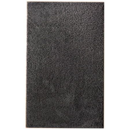 Super Area Rugs Cozy Plush Solid Charcoal Gray Shag Rug
