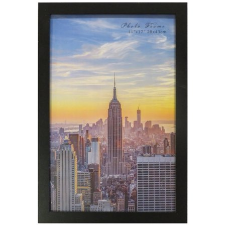 - Frame Amo 11x17 Black Wood Picture or Poster Frame, 1 inch Wide Border