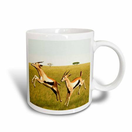 3dRose Thomsons Gazelle, Ceramic Mug, 11-ounce