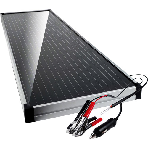 Schumacher Solar Panel, 15 Watt with Battery Clamps and 12V Adapter