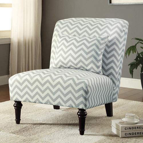 Chevron Accent Chair, Grey