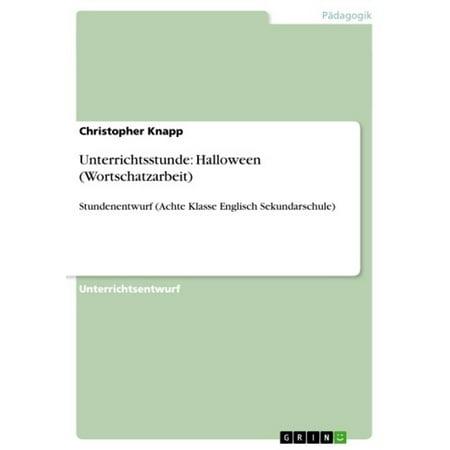 Unterrichtsstunde: Halloween (Wortschatzarbeit) - eBook - Halloween References
