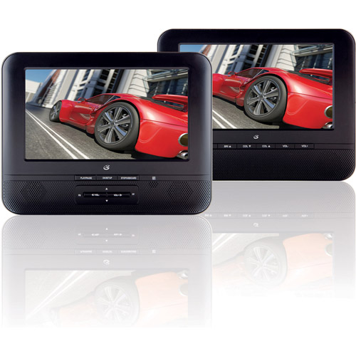 "GPX Portable DVD Player with Two 7"" LCD Displays by GPX"