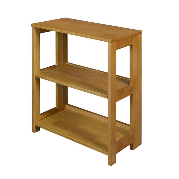 "Flip Flop 28"" High Folding Bookcase- Medium Oak - Walmart.com"