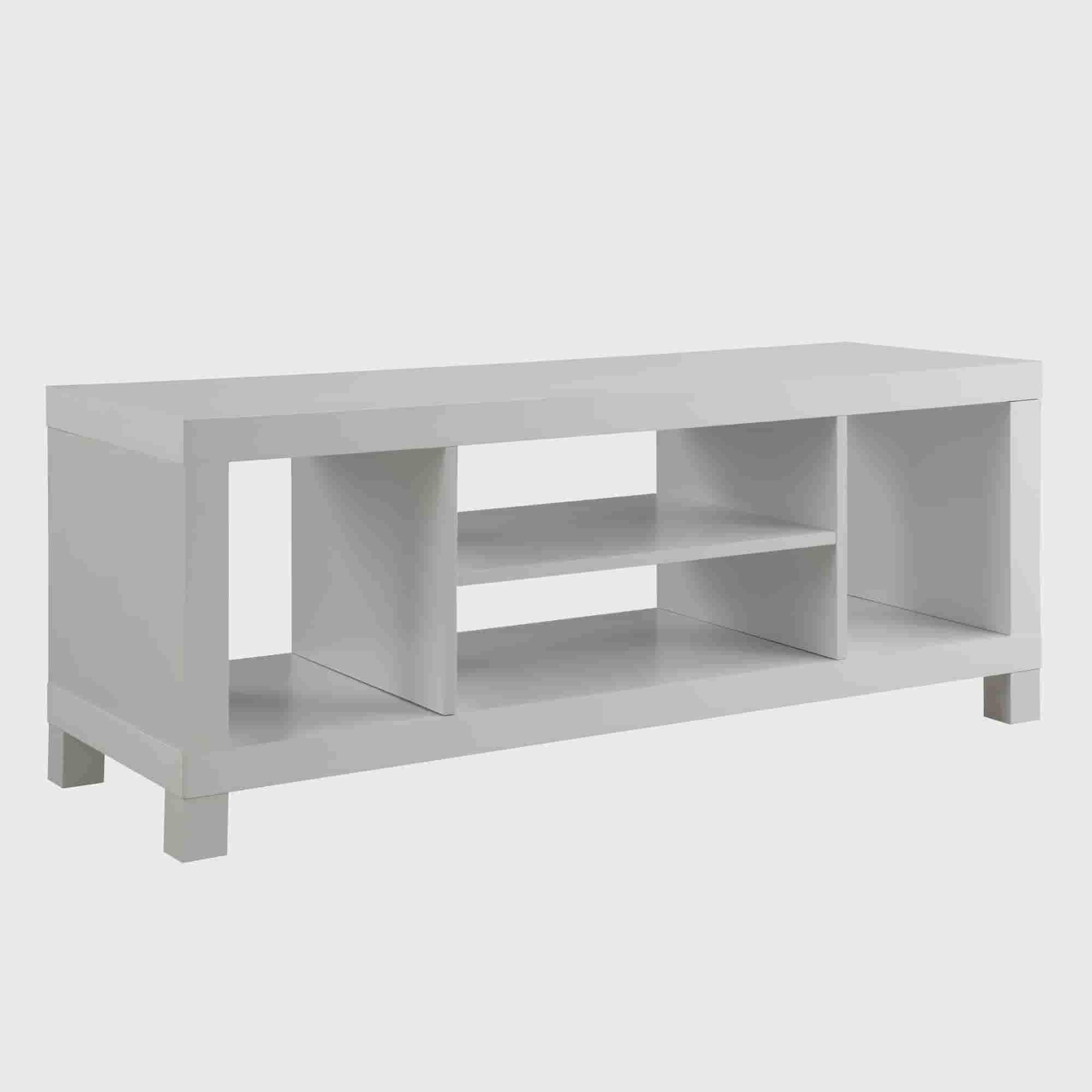 Smart Tv Stand White Modern 48 Inch Entertainment Low Profile Center