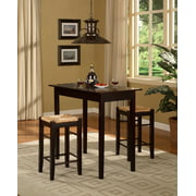Linon 3 Pc 1 Table And 2 Counter Stools Set Espresso Finish 24 85