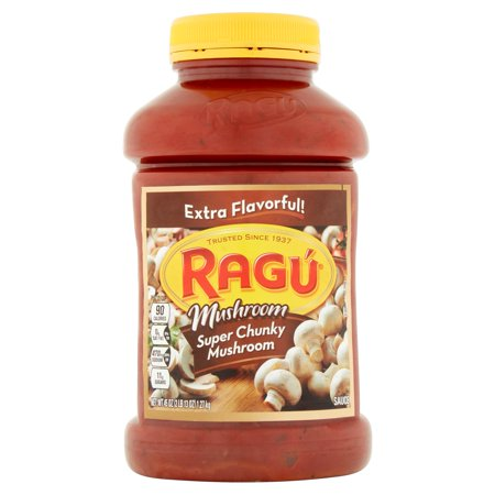 Trumpet Mushrooms - (2 Pack) Rag Super Chunky Mushroom Pasta Sauce 45 oz.