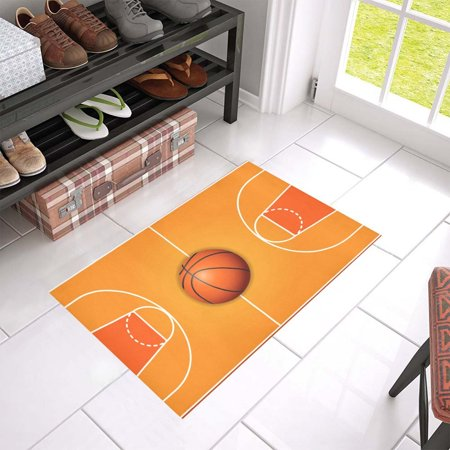 Kentucky Basketball Rug (MKHERT Basketball Field Doormat Rug Home Decor Floor Mat Bath Mat 23.6x15.7 inch)