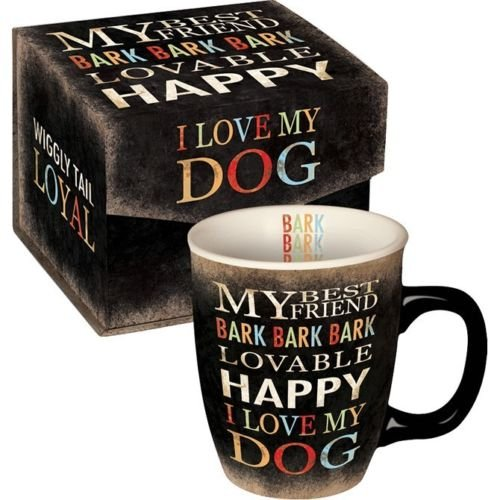 Ceramic I Love My Dog 14 oz Mug Cup in Decorative Gift Box