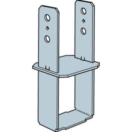 Post Concrete (Simpson Strong Tie CB44 4x4 Column Base, Designed to mount the post flush with the top of the concrete By Simpson StrongTie )
