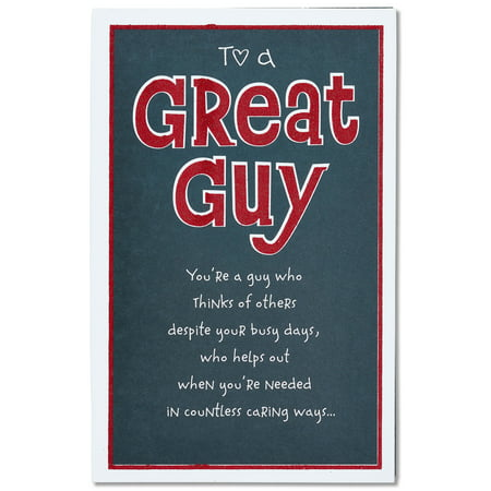 American Greetings Great Guy Valentine S Day Card For Him With